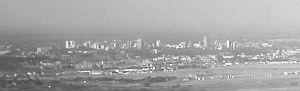 [Nairobi from the air]