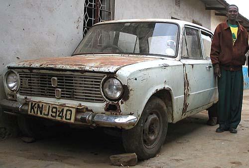 Mr Mutua with a car